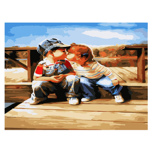 First Kiss-40*50cm DIY Paint by Numbers Kits - idiypaint