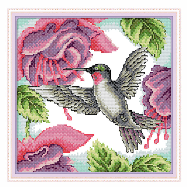 Hummingbird  -  DIY Cross Stitch Kits - idiypaint
