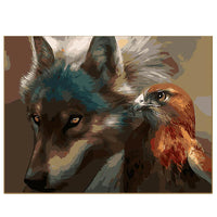 Wolf and Eagle-40*50cm DIY Paint by Numbers Kits - idiypaint