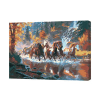 Horses Across The River-40*50cm DIY Paint by Numbers Kits - idiypaint