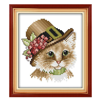 Royal Cat- DIY Cross Stitch Kits - idiypaint
