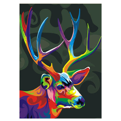 Colorful Deer-40*50cm DIY Paint by Numbers Kits - idiypaint