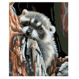 Cute Raccoon-40*50cm DIY Paint by Numbers Kits - idiypaint