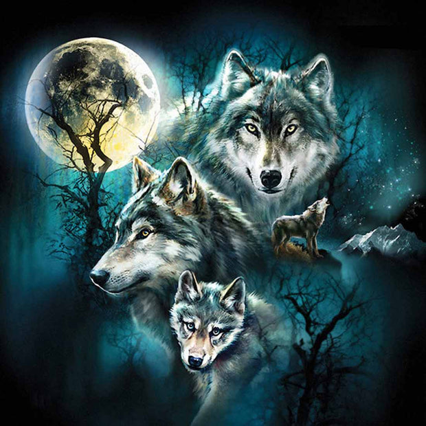 Wild Wolf- DIY 5D Diamond Painting - idiypaint