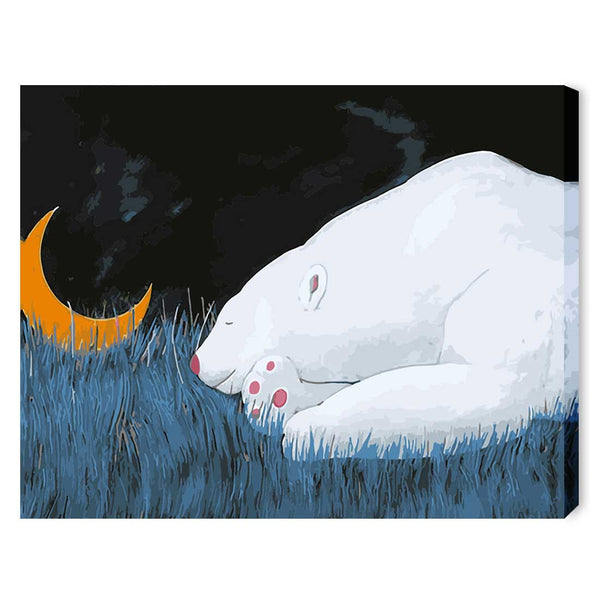 Good Night Little Bear-40*50cm DIY Paint by Numbers Kits with Frame for Wall Decoration - idiypaint