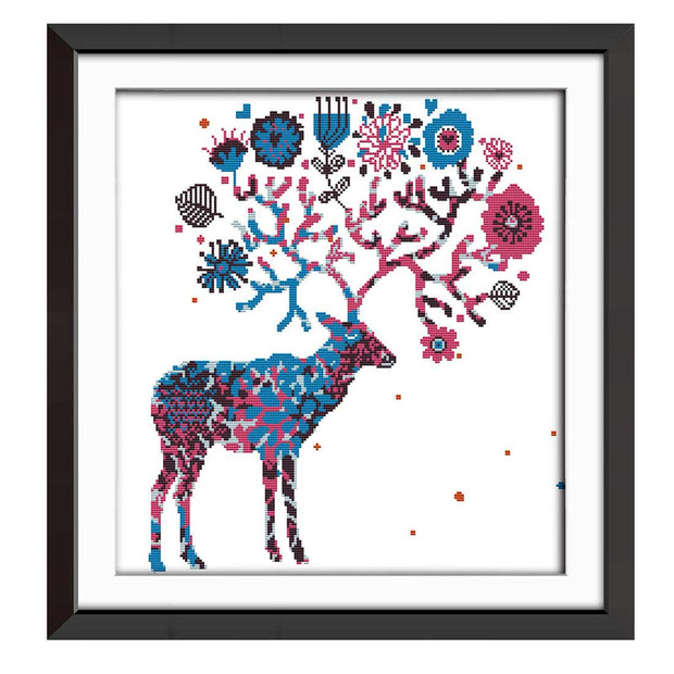 Elk-  DIY Cross Stitch Kits - idiypaint
