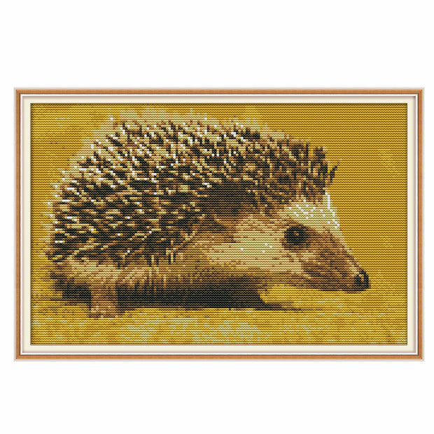 Little Hedgehog -  DIY Cross Stitch Kits - idiypaint