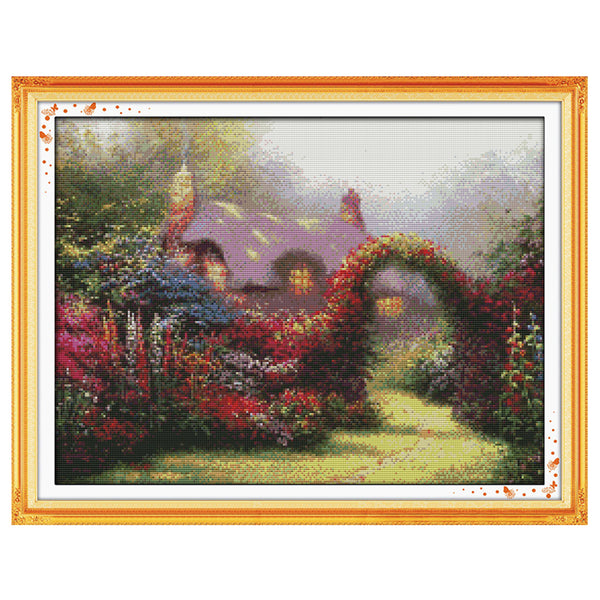 Garden Cottage -  DIY Cross Stitch Kits - idiypaint
