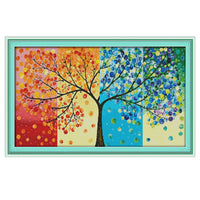 4 Seasons Pachira Macrocarpa -  DIY Cross Stitch Kits - idiypaint