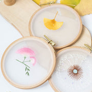 DIY Counted Cross Stitch Embroidery Starter Kit with Hoop- Dandelion - idiypaint