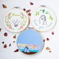 DIY Counted Cross Stitch Embroidery Starter Kit with Hoop- Love Story Chapter 1 - idiypaint