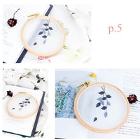 DIY Gauze Cross Stitch Embroidery Starter Kit with Bamboo Embroidery Hoop - Quietly Elegant 12* 12 - idiypaint