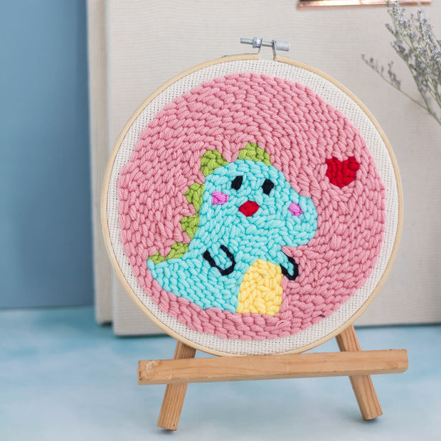 Little Monster Punch Needle Embroidery DIY Rug Hooking Kit - idiypaint