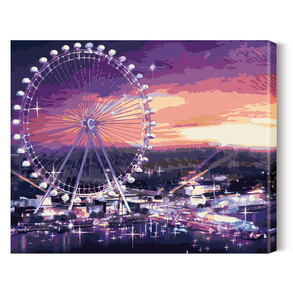 DIY Paint by Numbers Kits 40*50cm- Ferris wheel - idiypaint
