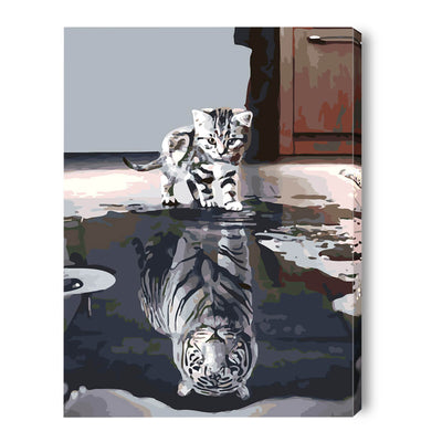 DIY Paint by Numbers Kits 40*50cm -Inner Tiger - idiypaint