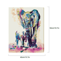 DIY Paint by Numbers With Frame- Elephant - idiypaint
