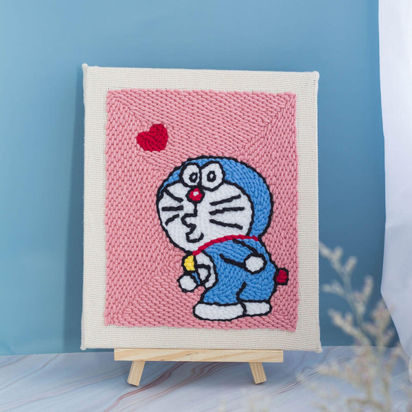 DIY Rug Hooking Punch Needle Handcraft-Doraemon - idiypaint