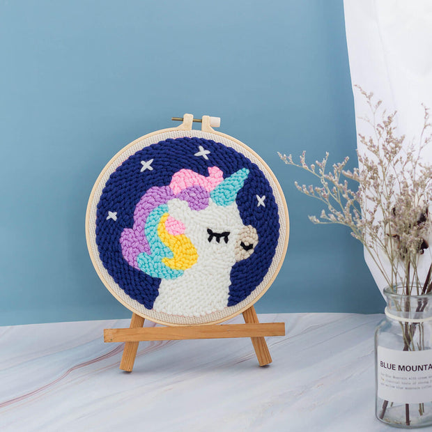DIY Rug Hooking Punch Needle Handcraft-Magical Unicorn - idiypaint