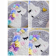 DIY Rug Hooking Punch Needle Handcraft- Unicorn - idiypaint