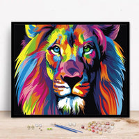 Colorful Lion -40*50cm Paint by Numbers With Frame for adults Beginner - idiypaint