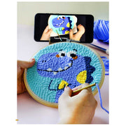 Little Cool Boy DIY Rug Hooking Punch Needle Embroidery Hand Craft - idiypaint