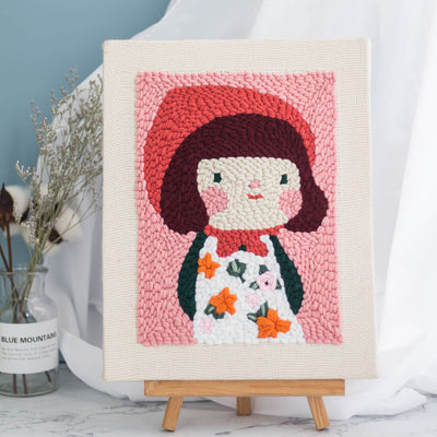 Yuki Self-Portrait Punch Needle Embroidery DIY Rug Hooking Kit - idiypaint