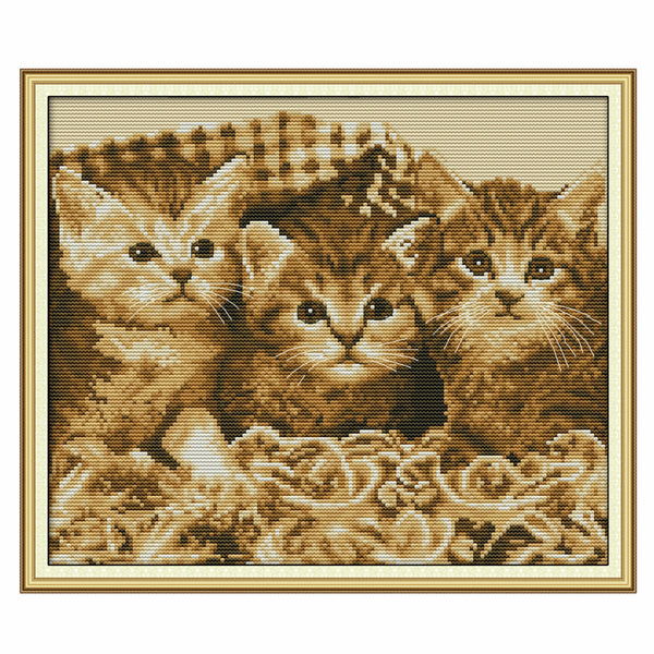The Three Little Kittens(Two) -  DIY Cross Stitch Kits - idiypaint