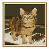 The Cat On The Piano -  DIY Cross Stitch Kits - idiypaint