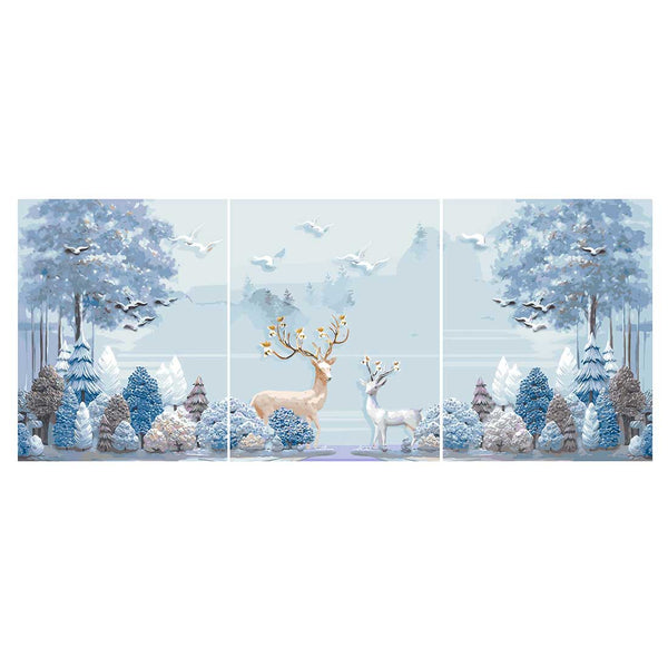 Romantic theme -3pcs 40 x 50cm DIY Painting by Numbers Sets with Frame for Home Decor - idiypaint