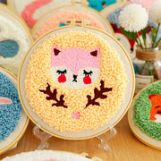 DIY Punch Needle Kit Handcraft Creative Gift with Embroidery Frame -  Little Fox2