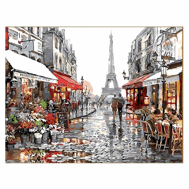 European Flower Shop-40*50cm DIY Paint by Numbers Kits - idiypaint