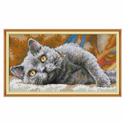 Black Cat Vision 2-  DIY Cross Stitch Kits - idiypaint
