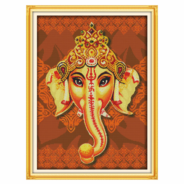 Sri Ganesh-  DIY Cross Stitch Kits - idiypaint
