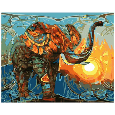 Elephant -40*50cm DIY Paint by Numbers Kits - idiypaint