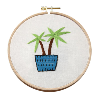 15 x 15cm DIY Counted Cross Stitch Embroidery Starter Kit with Hoop -  Fresh Style - idiypaint