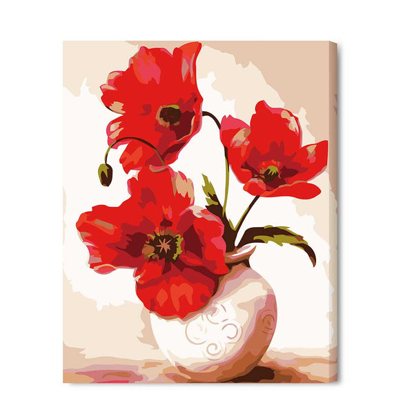 Vase-40*50cm DIY Paint by Numbers Kits with Frame for Wall Decoration - idiypaint