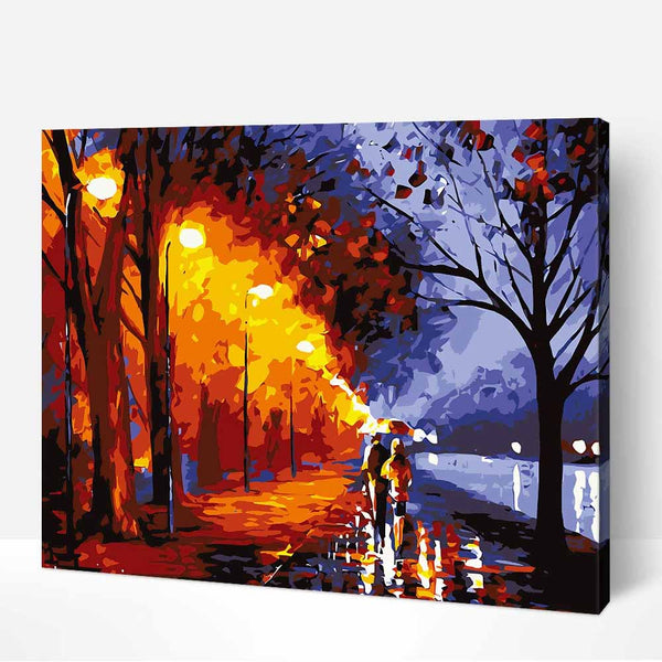 Couple Walking In The Rain-40*50cm Paint by Numbers For Adults Beginner - idiypaint