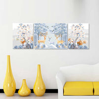 Petals Deer -3pcs 40 x 50cm DIY Painting by Numbers Sets with Frame for Home Decor - idiypaint