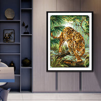 The Jungle Leopards -  DIY Cross Stitch Kits - idiypaint