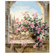 Windowsill Rose-40*50cm DIY Paint by Numbers Kits - idiypaint