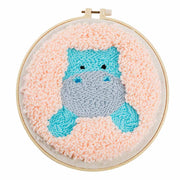 DIY Punch Needle Kit Handcraft Creative Gift with Embroidery Frame - Little Hippo