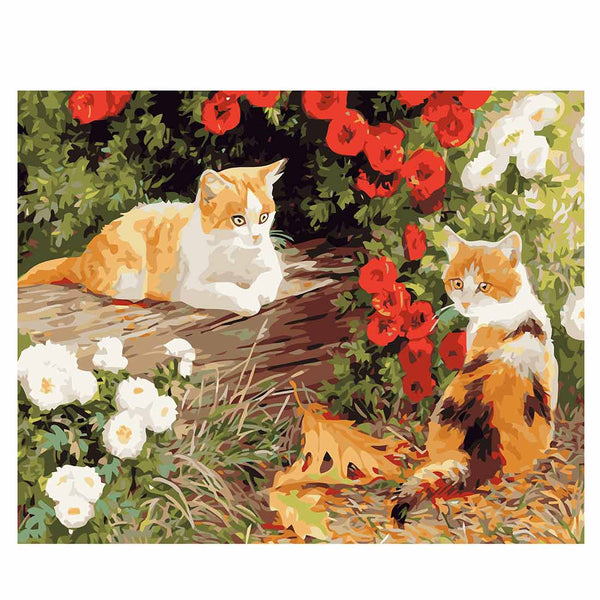 Two Kittens-40*50cm DIY Paint by Numbers Kits - idiypaint