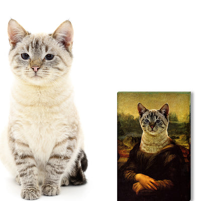 Mona Lisa-Custom Canvas Prints Pet Portraits