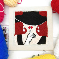 Sexy Girl DIY Knitting Wool Rug Hooking Punch Needle Embroidery Kit - idiypaint