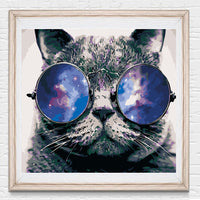40 x 50cm  DIY Paint by Numbers Kits with Frame for Wall Decoration - Cool Cat - idiypaint