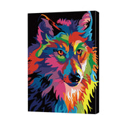 Colorful Wolf-40*50cm DIY Paint by Numbers Kits - idiypaint