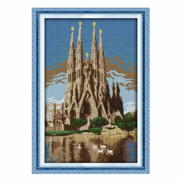 Castle In The Sea -  DIY Cross Stitch Kits - idiypaint