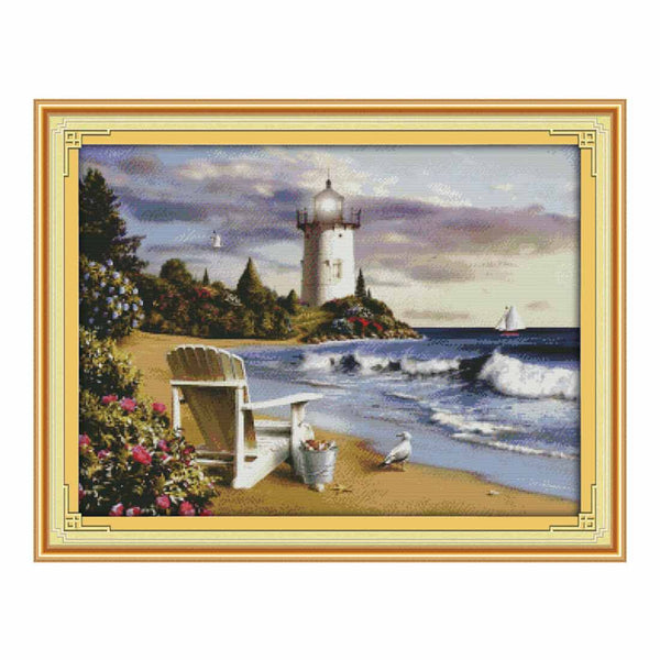 Lighthouse-  DIY Cross Stitch Kits - idiypaint
