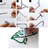 Carrot DIY Knitting Wool Rug Hooking Punch Needle Embroidery Kit - idiypaint