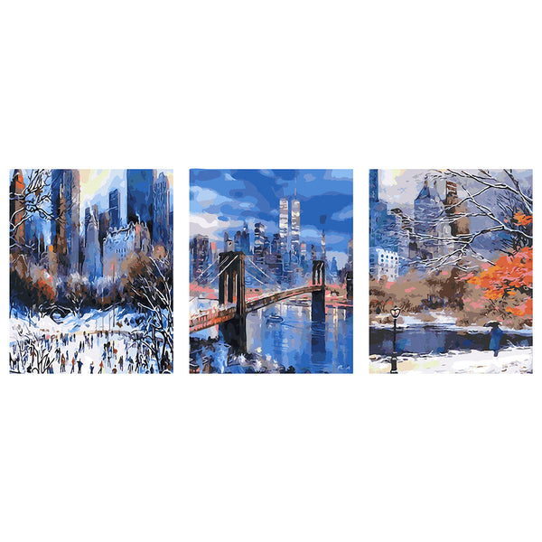 3Pcs set London Bridge-40 x 50cm DIY Painting by Numbers Sets For Adults Beginner - idiypaint